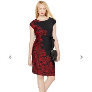 NWT Pea in the pod boatneck side tie floral dress